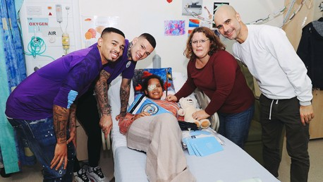 City provide Christmas treat for brave youngsters