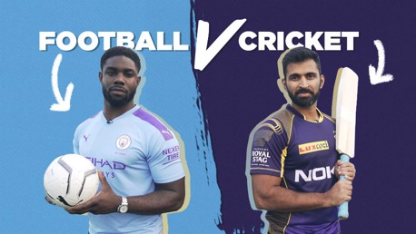 LEGENDS: Two Legends for one challenge! Micah Richards took on Abhishek Nayar from Kolkata Knight Riders