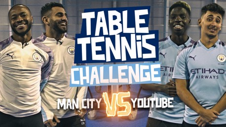 TABLE TENNIS CHALLENGE: City v YouTube