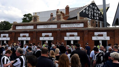 Fulham v City: Sold out