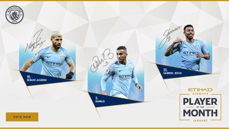 Aguero, Jesus and Danilo up for Etihad POTM vote