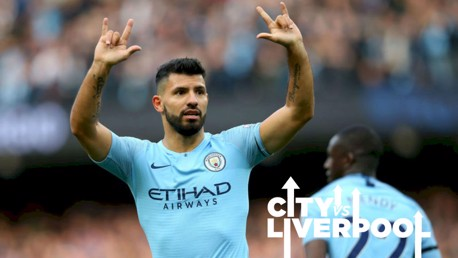 Aguero aiming for seventh heaven against Liverpool