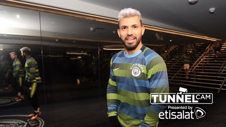Tunnel Cam captures Sergio Aguero behind-the-scenes after City's all-important win over Liverpool