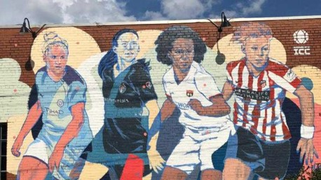 Steph Houghton mural unveiled in Raleigh for WICC