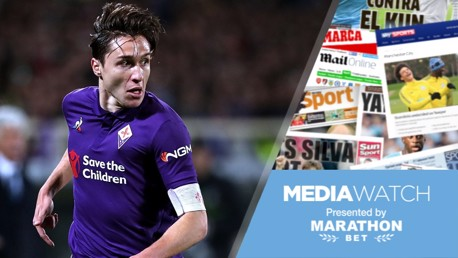 Media Watch: City to battle United for Chiesa?