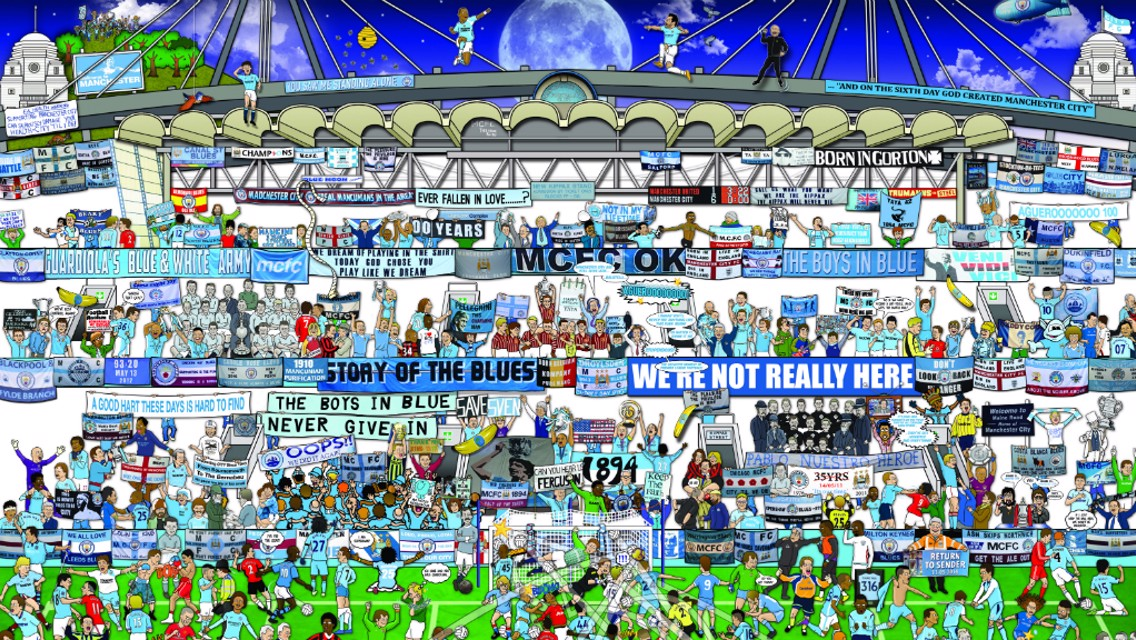 Man City mishmash: Alex Bennett on his artwork