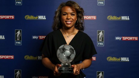 WINNERS: Parris poses with her FWA award