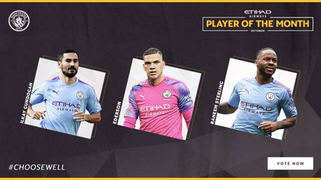 Etihad Player of the Month nominees revealed