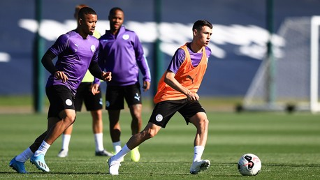 Training: City's Euro stars shoot to thrill!