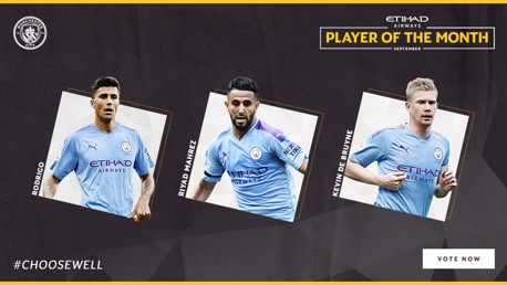 Trio up for September Etihad Player of the Month