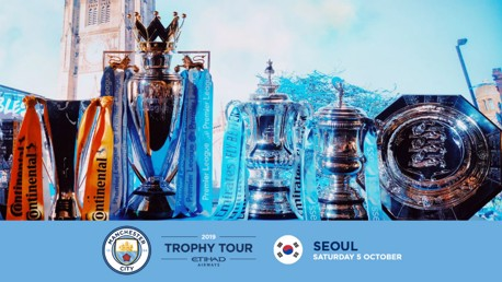 City Trophy Tour Heading to South Korea