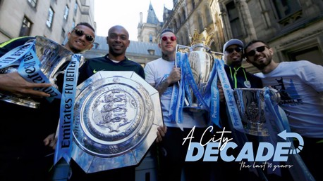 City end decade with most English trophies