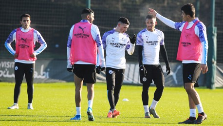 Training: City sharpen up for the Blades