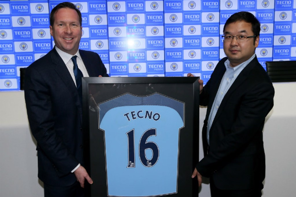 Tecno%20partner%20launch - TECNO Mobile is the new Official Tablet and Handset Partner of Manchester City.