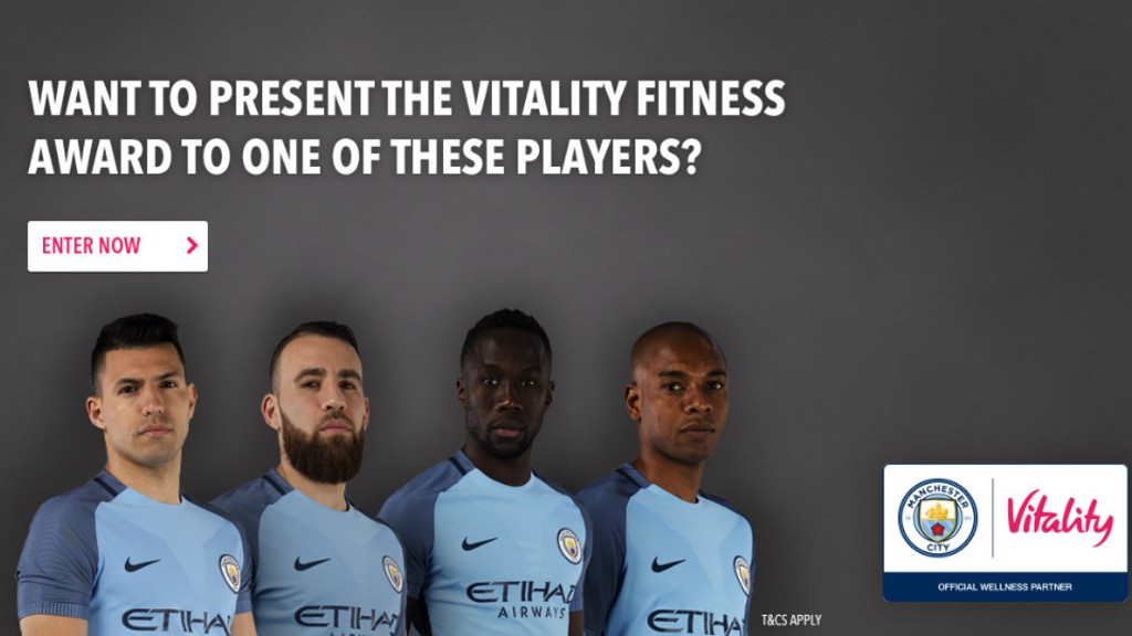 COMPETITION TIME: Meet one of your City heroes and present the Vitality Fitness Award.