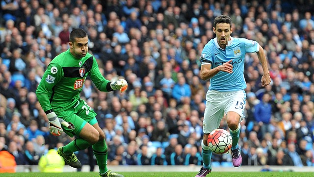 NAVAS: Spanish midfielder believes that Bournemouth will provide a tough test on Saturday.