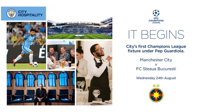 HOSPITALITY: Watch Pep's first Champions League home game in style.