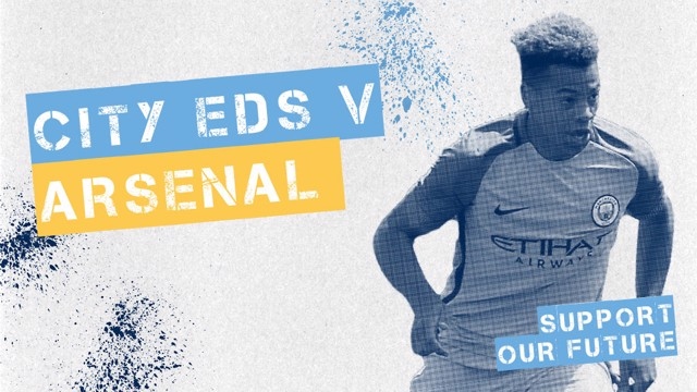 MAIN STAGE: The EDS will face Arsenal at the Etihad Stadium on Friday 19 August.