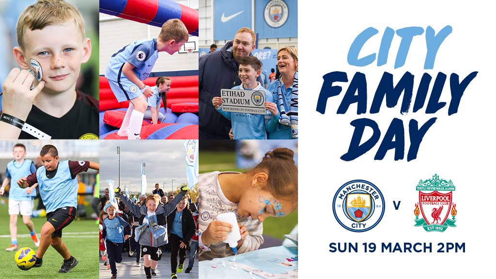 FAMILY FUN: Join us at City Football Academy before Pep's Blues take on Liverpool.