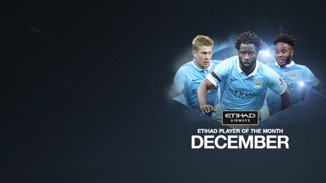 Etihad Player of the Month nominees Kevin De Bruyne Wilfried Bony and Raheem Sterling