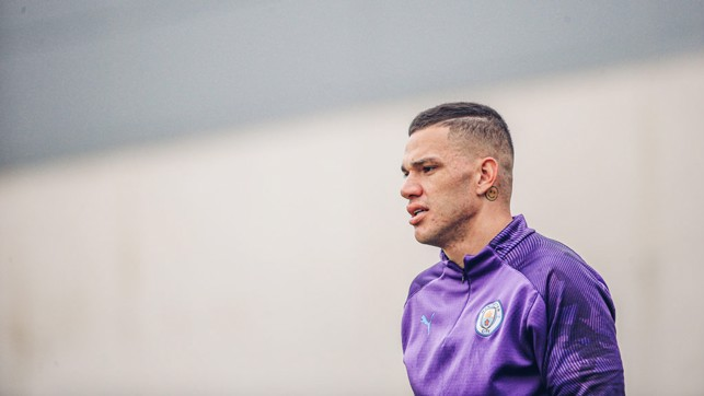 BRILLIANT BRAZILIAN : Great to see Ederson back in training!