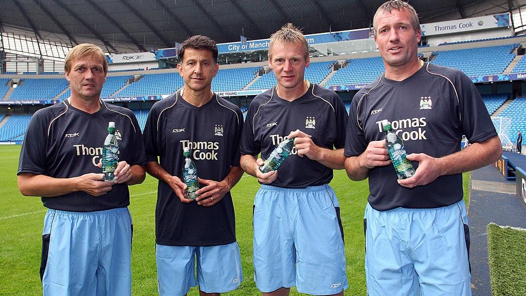 CITY GENT : Steve Wigley, Juan Osorio, Stuart Pearce and Tim Flowers