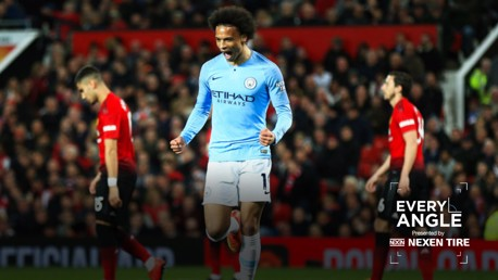 Every angle : Rewatch Leroy Sane's record breaking goal against Manchester United.