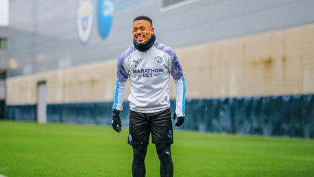 GAB GRIN: Gabriel Jesus is clearly loving his football at the moment