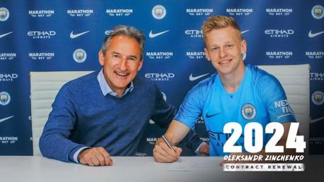 Zinchenko signe une prolongation de 3 ans au club