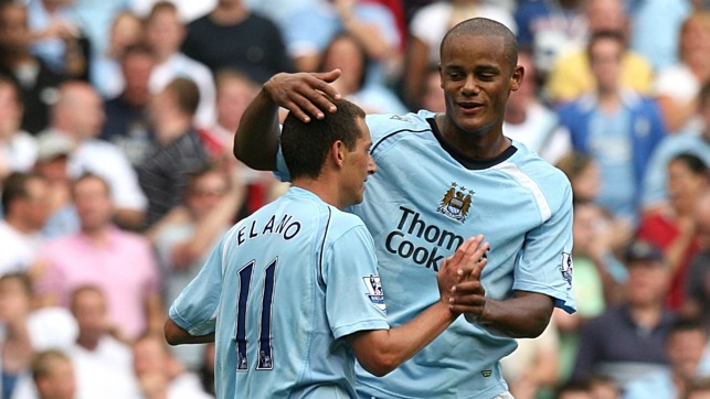 YOUNG GUN : Kompany makes his debut for the Blues against West Ham in 2008