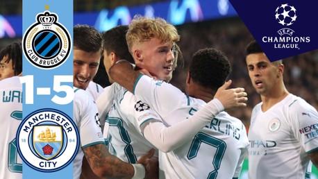 Cuplikan Pertandingan: Club Brugge 1-5 City