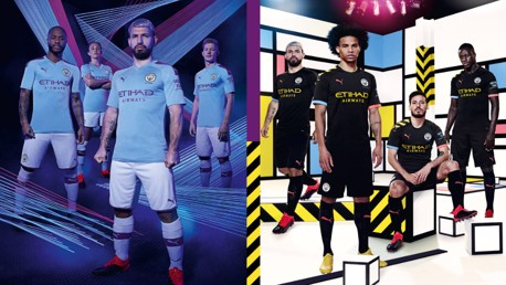 Manchester City and PUMA today revealed their 2019/20 Home and Away kits, the first designs of their partnership, which pay tribute to Manchester's industrial and cultural heritage.