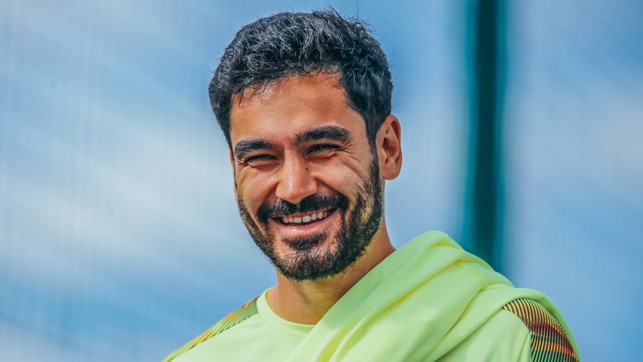 Happy days! : Ilkay Gundogan, relaxed and ready for the next challenge