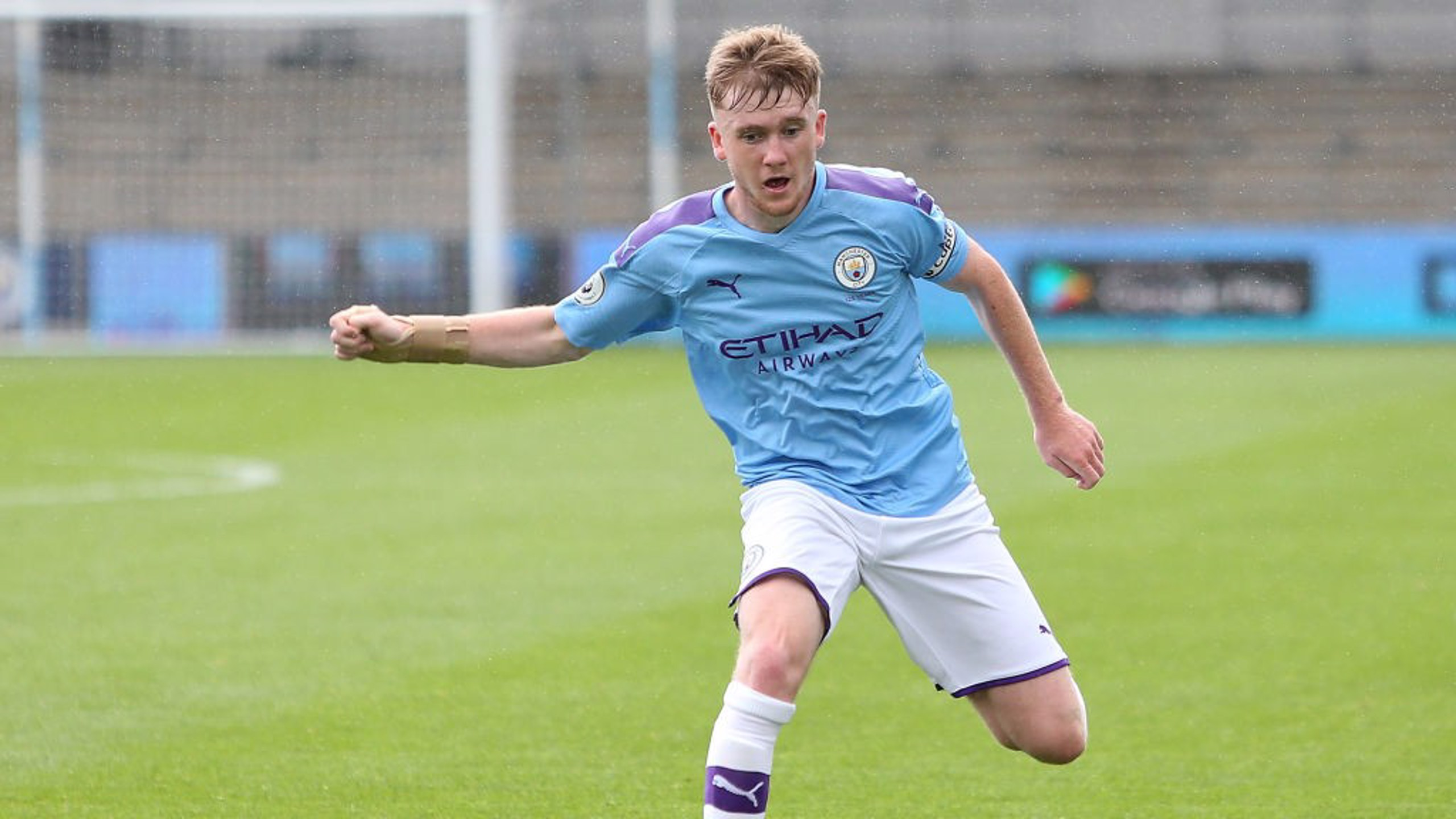 SKIPPER: Tommy Doyle was on target for the EDS against Liverpool.