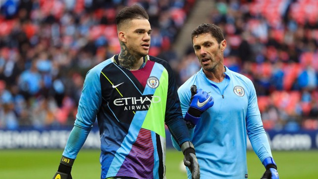 GRAB AND GO : Ederson got his hands on our mash up shirt.