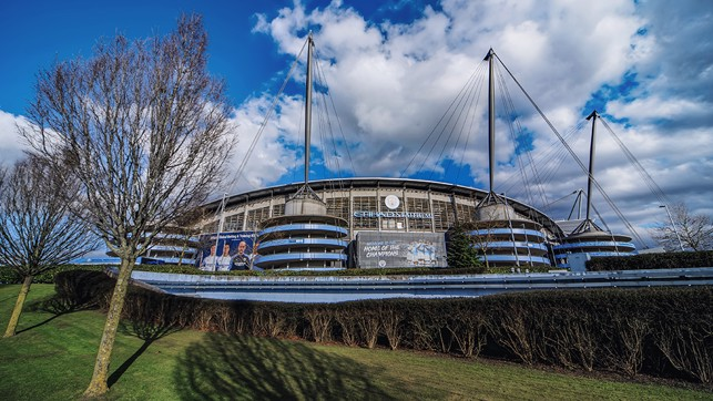 OUR HOME: And we all hope it won't be too long before we are back enjoying action at the Etihad