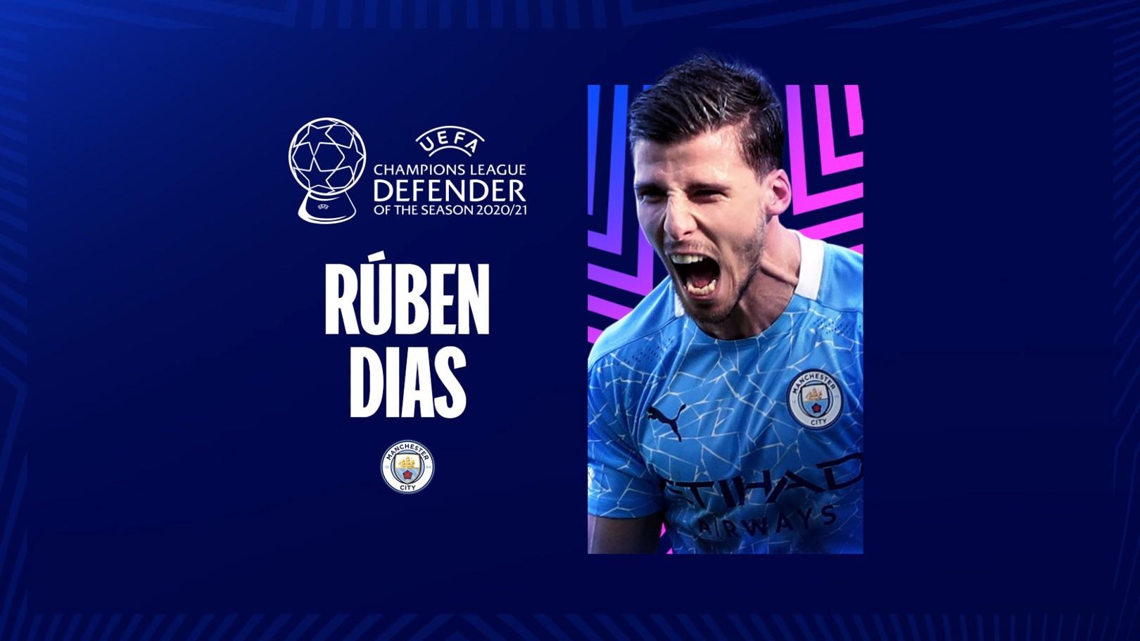Dias Terpilih Sebagai Pemain Bertahan Terbaik Liga Champions Musim 2020-21