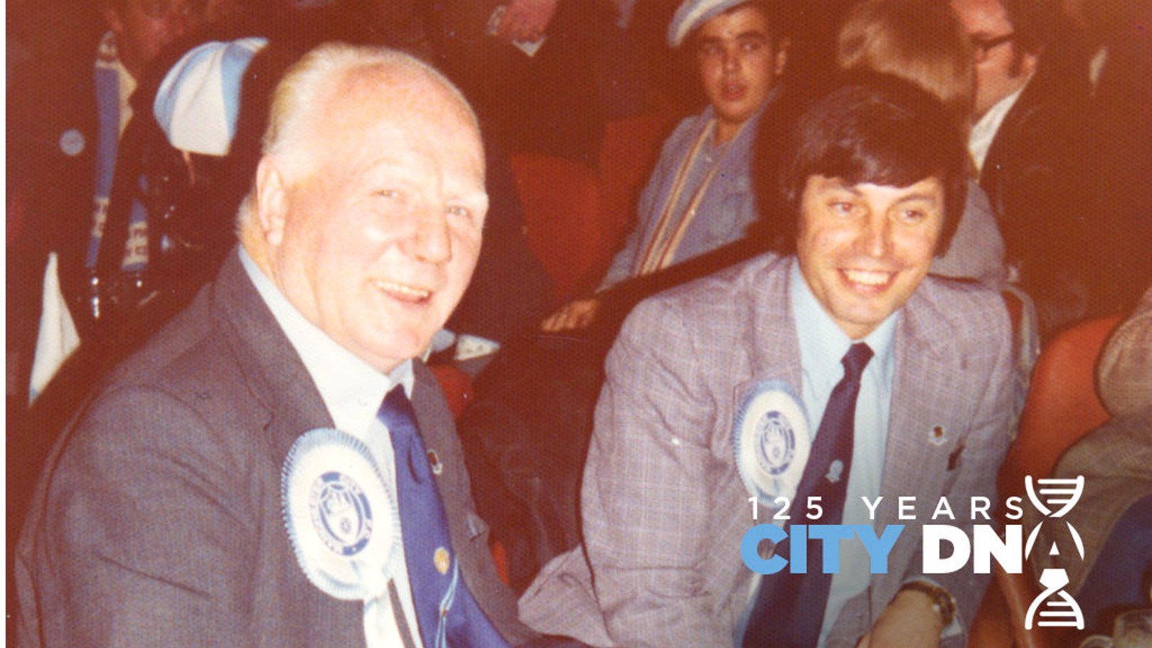 TRUE BLUE: Frank Horrocks (pictured right) at a Supporters Club function