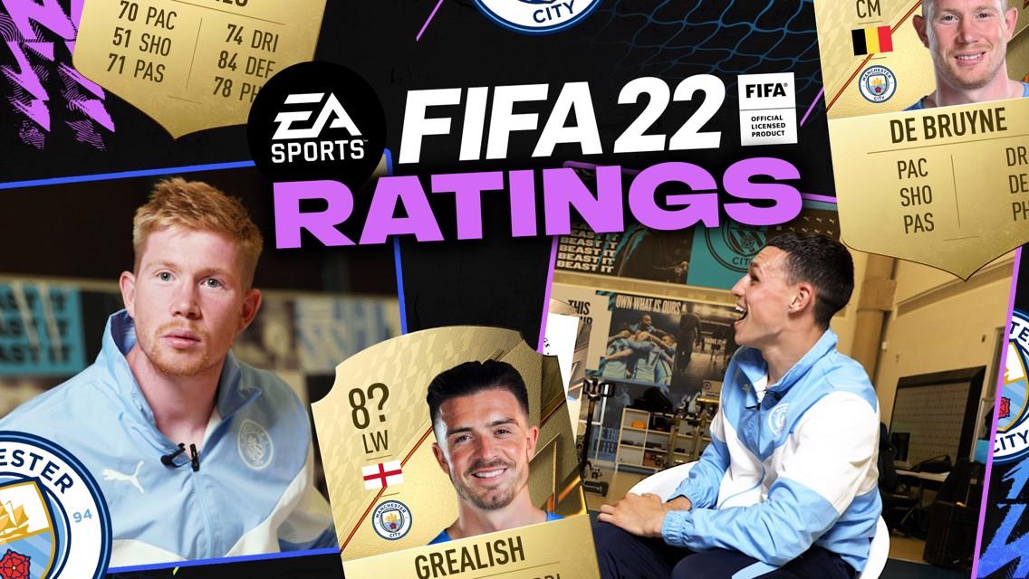 데 브라위너와 포든의 'FIFA22 능력치 주인공 맞히기'