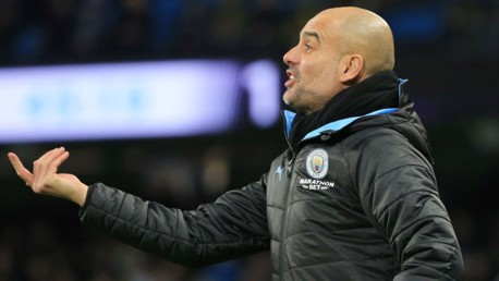 PEP TALK: The boss urges his players on