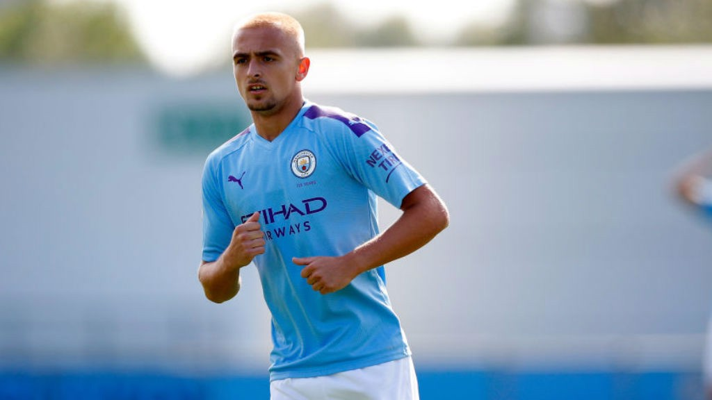 ON THE MARK : Lewis Fiorini was also on target for the City youngsters