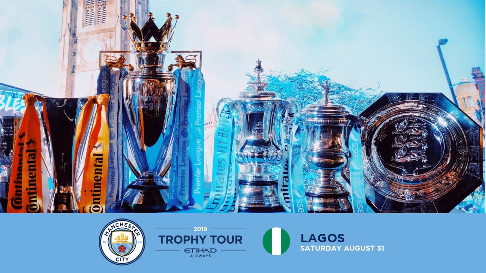City trophy tour heading to Lagos.