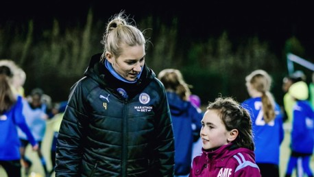 GEM OF A SESSION: Gemma Bonner chats with a #SameGoals youngster in Leeds