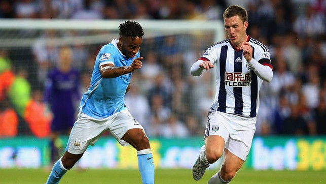 DEBUT : Sterling has his run run out with City against West Brom.