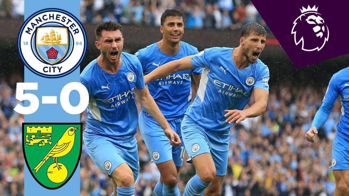 Cuplikan Singkat: City 5-0 Norwich