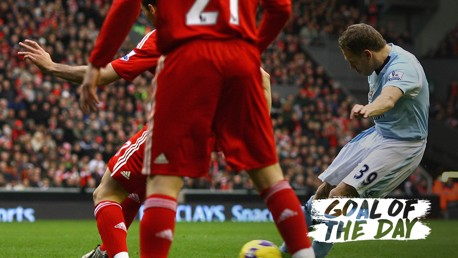 GOAL OF THE DAY: Craig Bellamy v Liverpool 2008/09