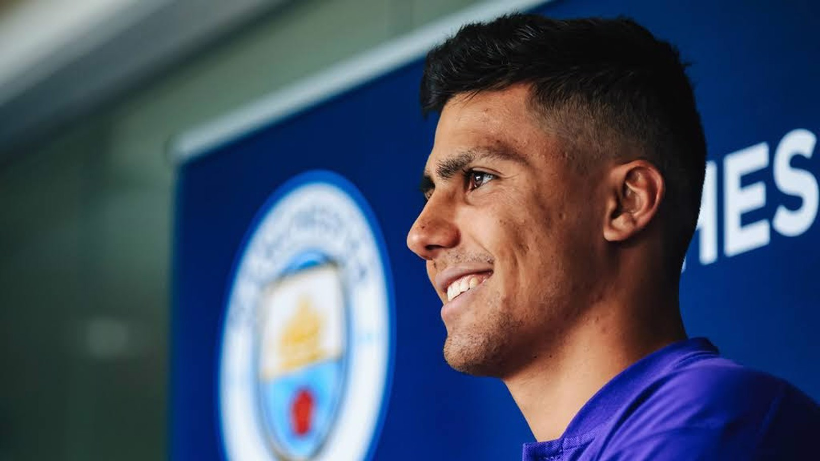 SHINING ON: Rodri says that he is thrilled to have sealed his move to the Club
