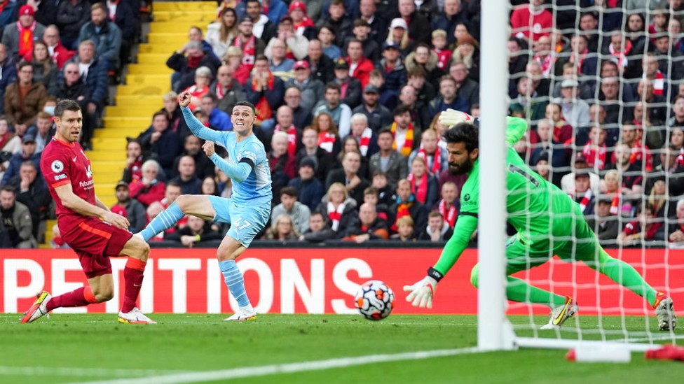 LEVEL : Foden blasts beyond Alisson - what a response!