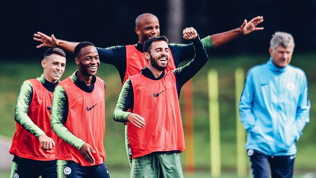 SHINY HAPPY PEOPLE : Raheem and Phil see the funny side