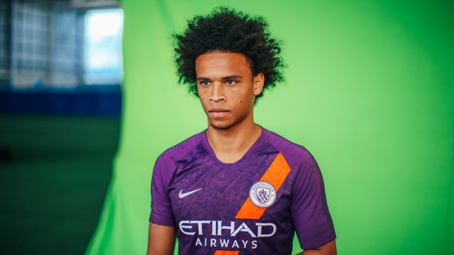 PURPLE REIGN : Leroy Sane models City's new third strip